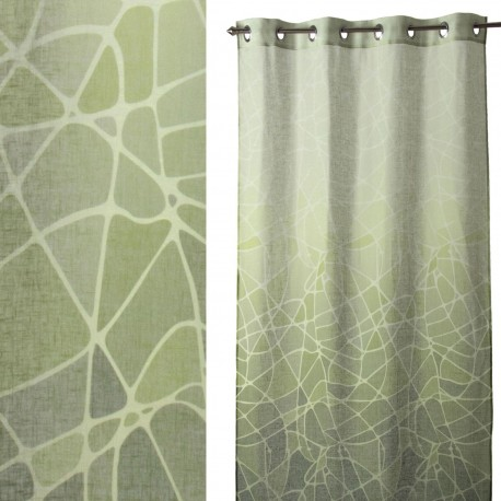 """Cortina anillas para salon """"andrea"""" verde 140 x 260 cm con 8 anillas metálicas. 100% poliéster."""
