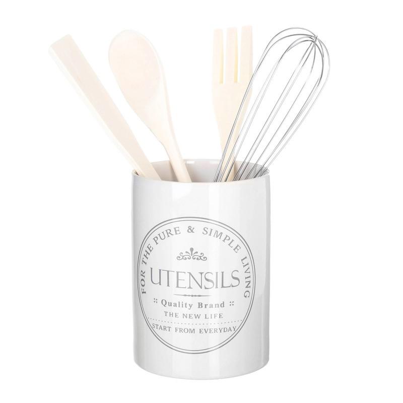 Porta utensilios pure living stoneware incluye batidor for Utensilios de cocina de ceramica