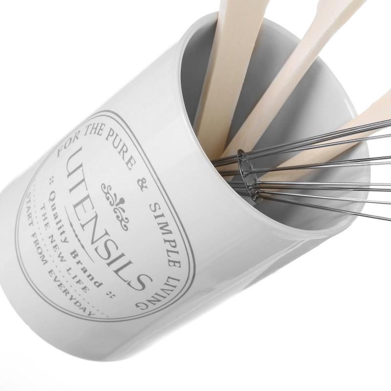 Porta utensilios pure living stoneware incluye batidor for Porta utensilios cocina