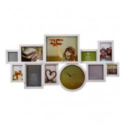 Portafotos plastico multiple blanco 11 Fotos moderno
