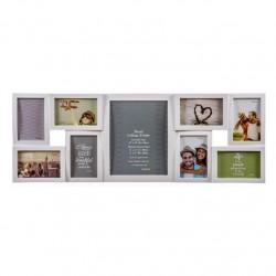 Portafotos plastico multiple blanco para 9 Fotos moderno , ideal para salon o dormitorio .