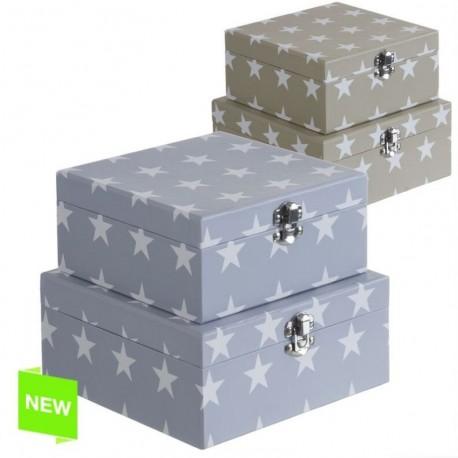 Juego 2 cajas diseño original estrellas