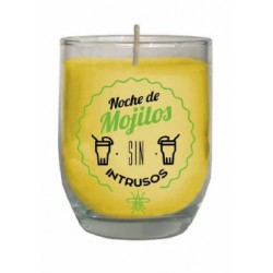 Vela citronela antimosquitos con mensaje decorativos