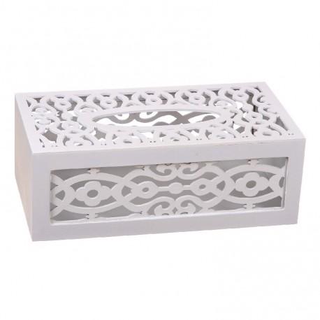 Caja porta pañuelos madera Med: 24 x 14 x 9 cm