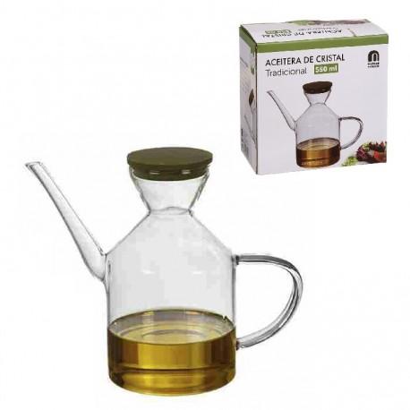 Aceitera clasico de cristal 550 ml en caja de regalo dcasa - Aceiteras de cristal ...