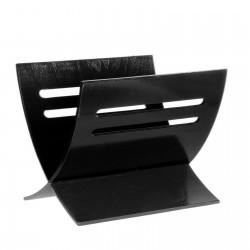 Revistero de suelo moderno negro de madera para salón