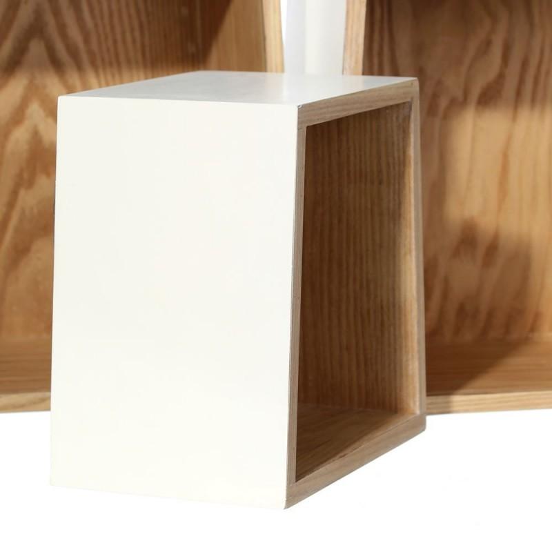 Estantes auxiliares n rdicos blancos de madera para sal n - Madera para estantes ...