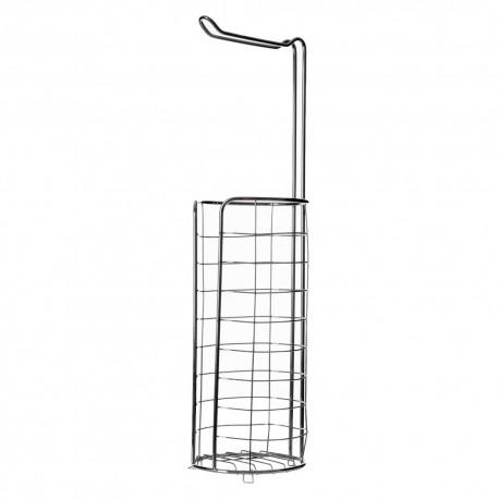 Portarrollos de baño moderno plateado de metal para cuarto de baño Basico