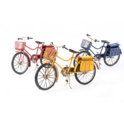Bicicleta deco metal 31x10x18 3 color