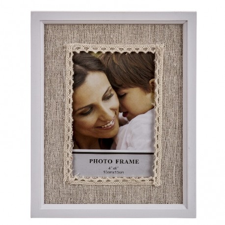Portafoto de madera basico romantico 10 x 15 cm