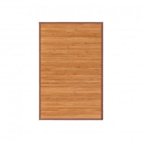 Alfombra pasillera oriental marrón de bambú natural de 60 x 90 cm Sol Naciente
