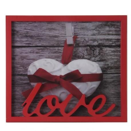 Portafoto individual romántico rojo love