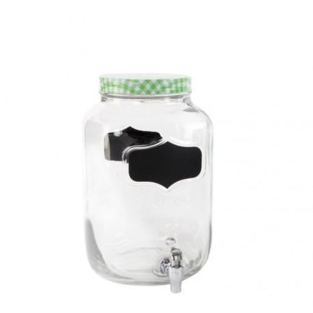 Dispensador de bebidas cristal vintage para 8 litros