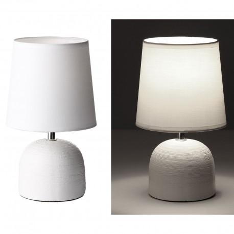 Lámpara de mesa moderna blanco cerámica 16 x 16 x 27,50 cm