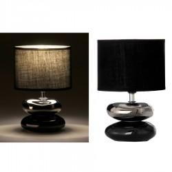 Lámpara para mesita de noche oriental negra de cerámica para dormitorio Arabia