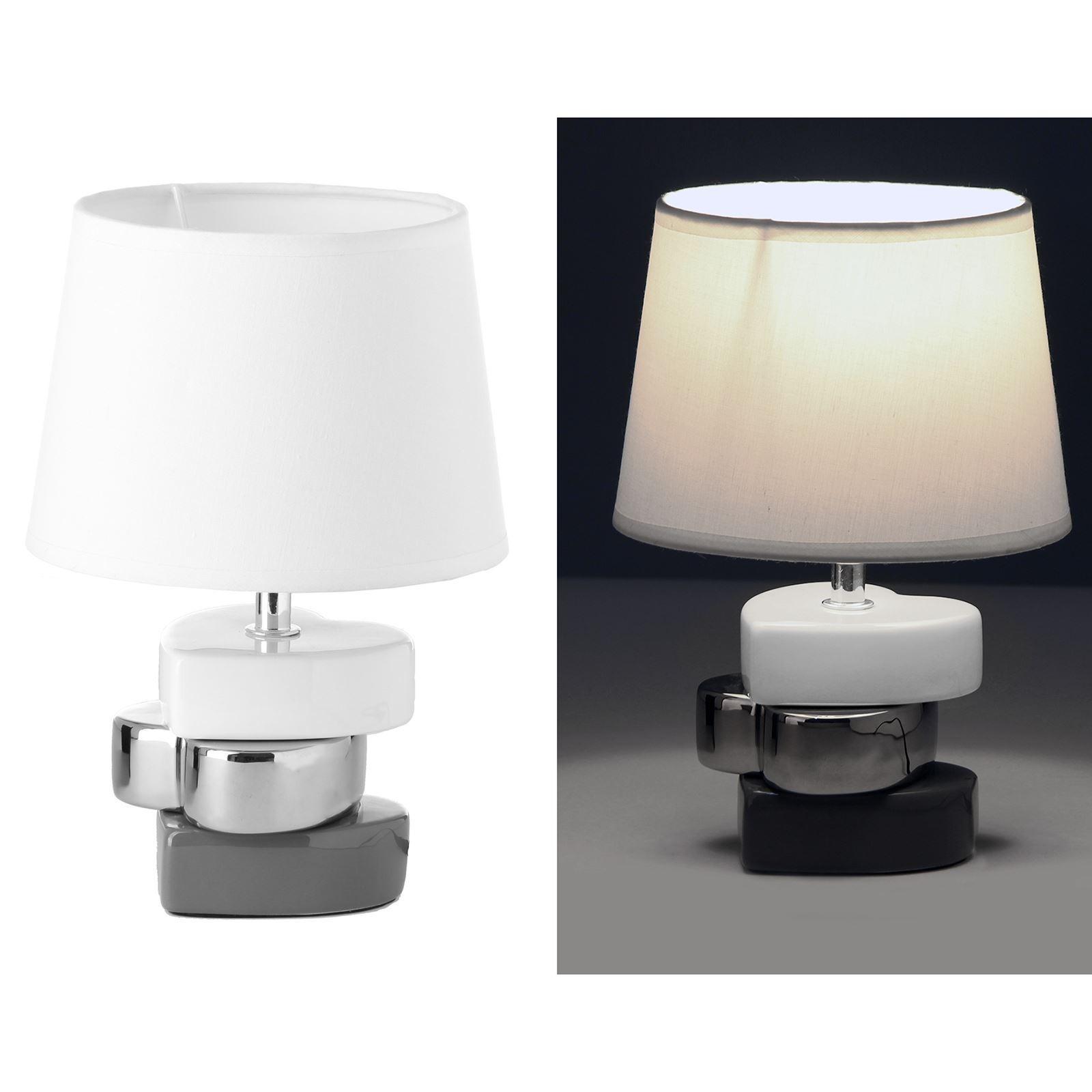 lmpara para mesita de noche moderna blanca de cermica para dormitorio vitta dcasaes with lampara para dormitorio moderno