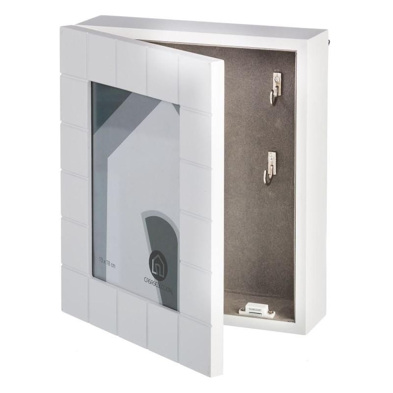Caja De Llaves Moderna Blanca De Madera Para La Entrada