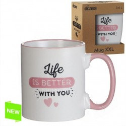 Taza extra grande XXL 600 CC LIFE IS BETTER WITH YOU (ENG)