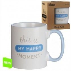 Taza extra grande XXL 600 CC THIS IS MY HAPPY MOMENT (ENG)