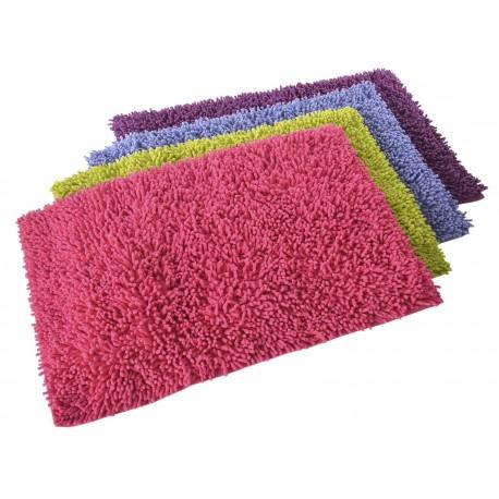 """Alfombra baño """"shaggy"""" 4/c 100% algodón 70 x 50 cm entre 3 cm y 3,2 cm de pelo , 1700g/m2"""