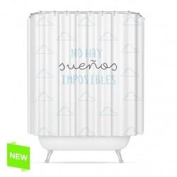 """Cortina de baño original diseño frase """"SUEÑOS"""" peva 180 x 200cm"""