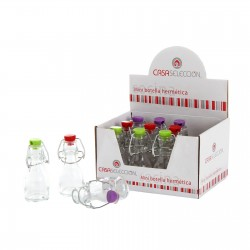 Mini botella de cristal 3 color ( Caja de 12 mini botellas )