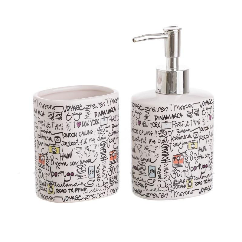 Accesorios de ba o modernos blancos de cer mica para for Accesorios de bano de ceramica