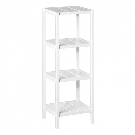 estanter a de 4 baldas minimalista blanca de madera para On estanteria auxiliar bano