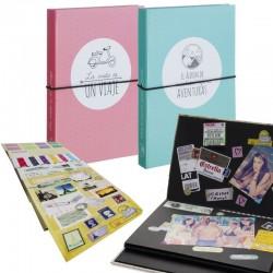 Album de scrapbook con stickers para hacer tu propio album scrapbooking .