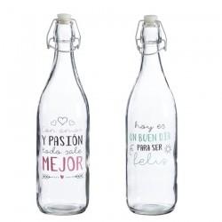 Botellas de agua con mensaje positiva ( Pack 2 botellas )