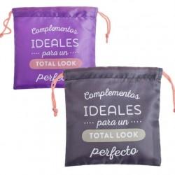 """Bolsas de viaje para complementos 22x22 cm """"""""Pack 2 bolsas"""""""""""