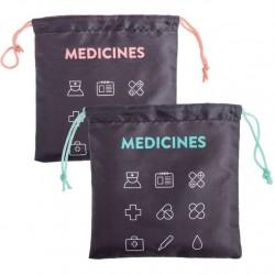 """Bolsas de viaje para medicinas 22x22 cm """"""""Pack 2 bolsas"""""""""""