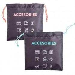 """Bolsas de viaje para accesorios 22x22 cm """"""""Pack 2 bolsas"""""""""""