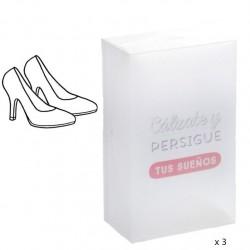 """Cajas plegables de Zapatos de Mujer de Plástico Transparente """"""""Pack 3 cajas"""""""""""