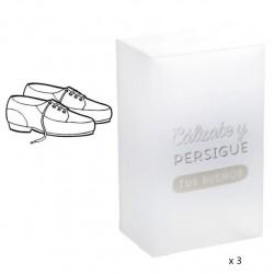 "Cajas plegables de Zapatos de Hombre de Plástico Transparente """"Pack 3 cajas"""""