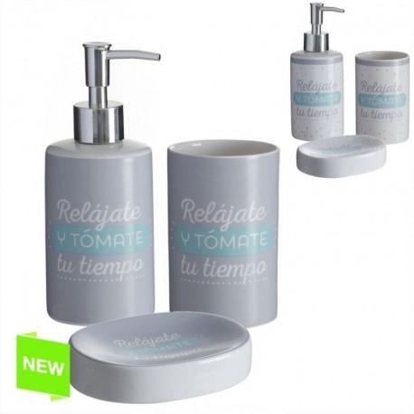 Accesorios de baño original con mensaje de cerámica para cuarto de baño  Factory |dcasa.es