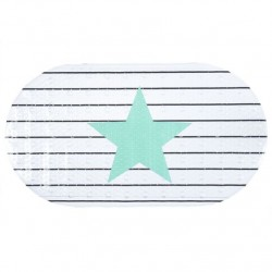Alfombra bañera/ducha antideslizante marina 70x39x0,1 cm