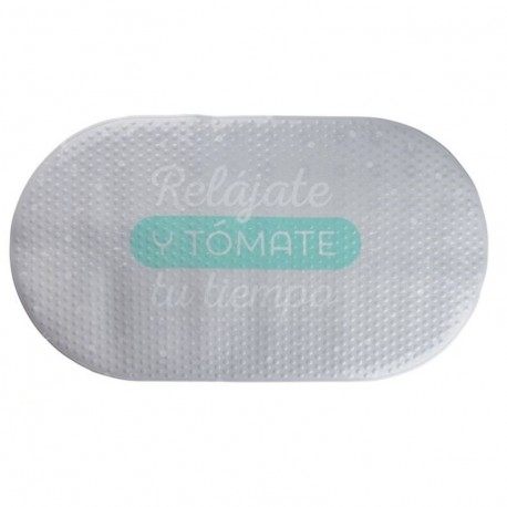 "Alfombra baño antideslizante original con frase """"RELAJATE"""""