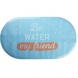 "Alfombra baño antideslizante original con frase ingles """"BE WATER"""""