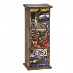 Caja de madera 3 cajones vintage envejecito 33x13x10 cm