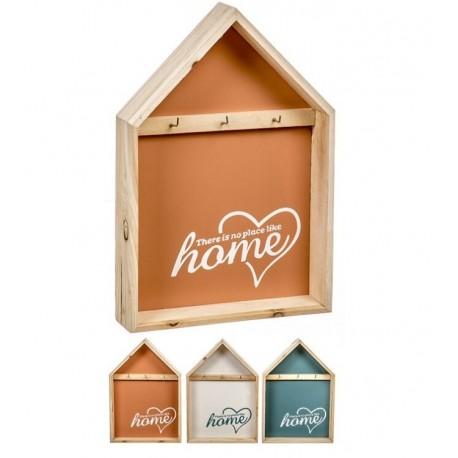 Estantes de llaves en forma de casa de madera 34,5 cm