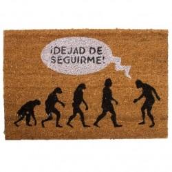 """Felpudo original de fibra de coco y base de goma """"EVOLUCION """" 40X60 cm"""