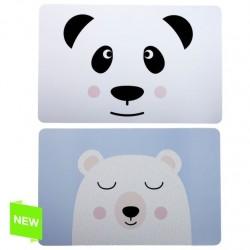 "Pack de 12 individuales de mesa infantil ""Oso panda"""