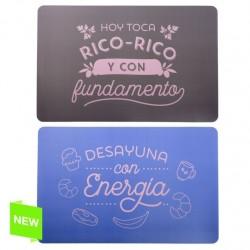 """Pack de 4 individuales de mesa modernos divertidos """"RICO-RICO"""""""