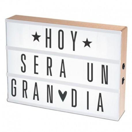 Lightbox caja de luz a4 con 75 letras - Caja de luz de madera ...