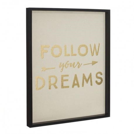 "Cuadro decorativo con frase ""FOLLOW"""