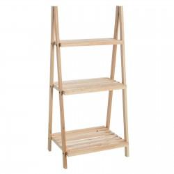 Estantería 3 baldas abeto madera natural. 42 x 34 x 91 cm