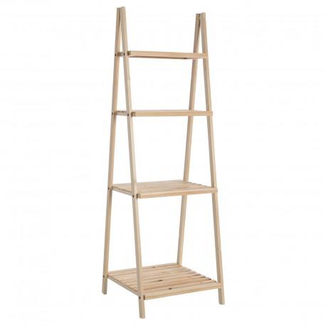 Estantería 4 baldas abeto madera natural. 42 x 43 x 134 cm