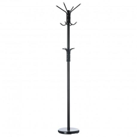 Perchero de 12 brazos moderno negro de metal para la entrada de 178 cm Factory