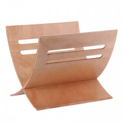 Revistero de suelo moderno roble álamo de madera para salón